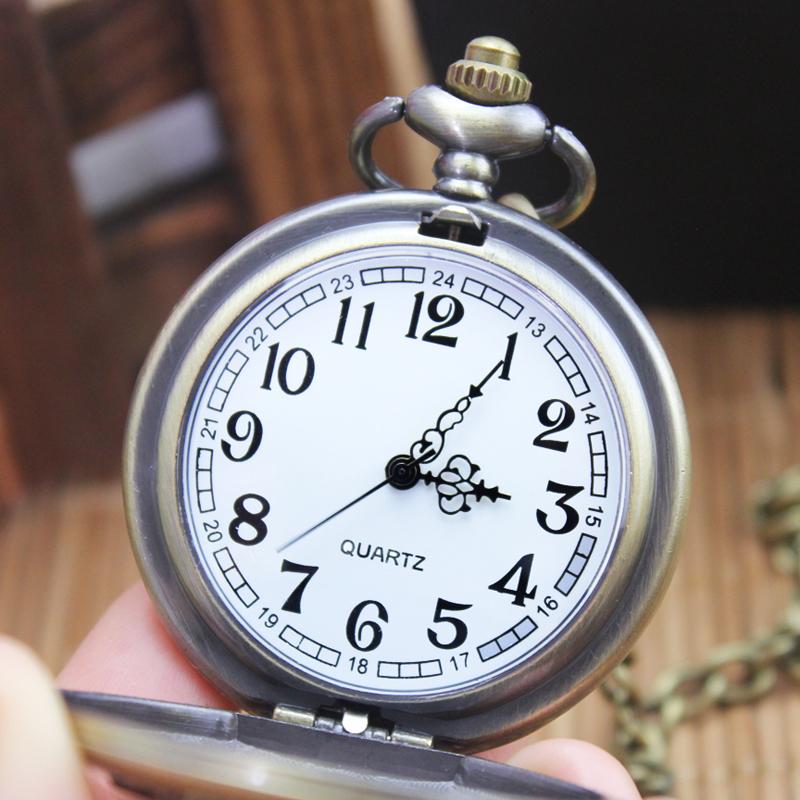 经典复古清晰大数字老人怀表五星挂表中老年翻盖大表盘男学生手表
