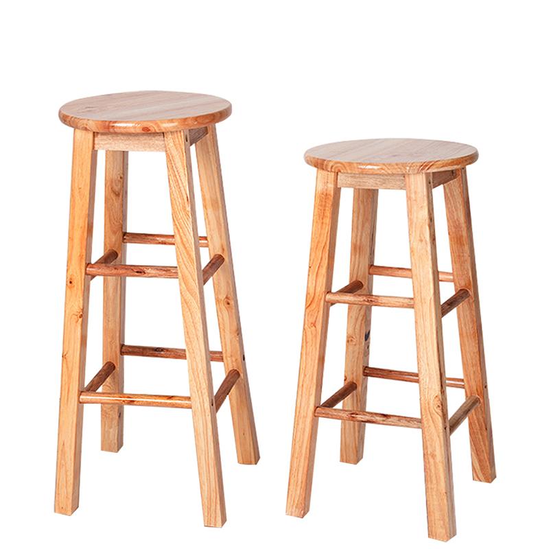 实木凳子吧台凳奶茶店高脚凳家用简约高椅子酒吧凳吧凳北欧吧椅