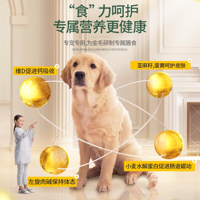 耐威克金毛成犬专用5kg10斤18个月以上中大型犬适用天然狗粮优惠券
