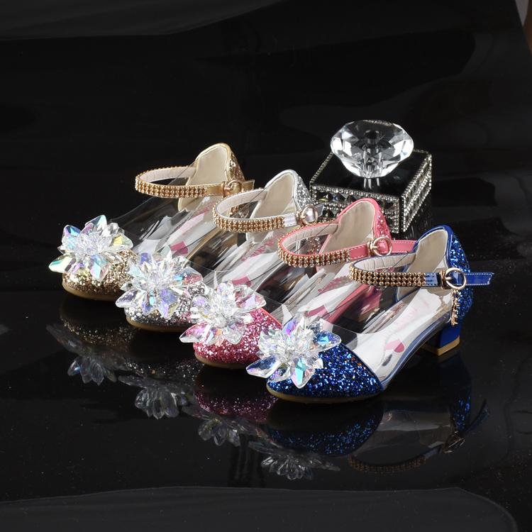 花语美鞋 七彩水晶鞋