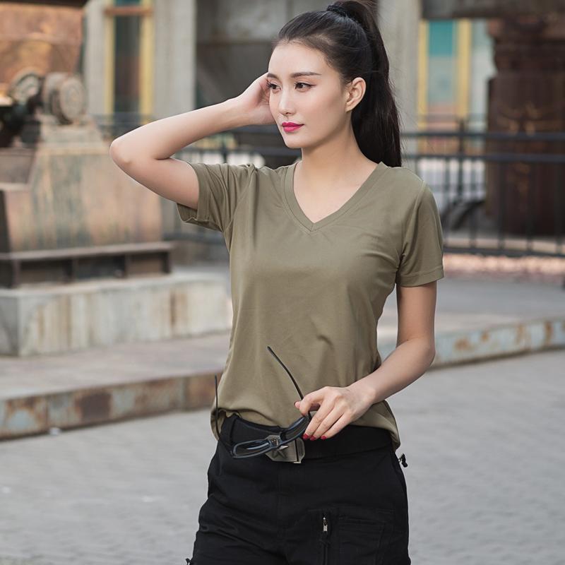 户外速干短袖女夏军迷战术跑步体能训练服快干衣宽松运动T恤 男