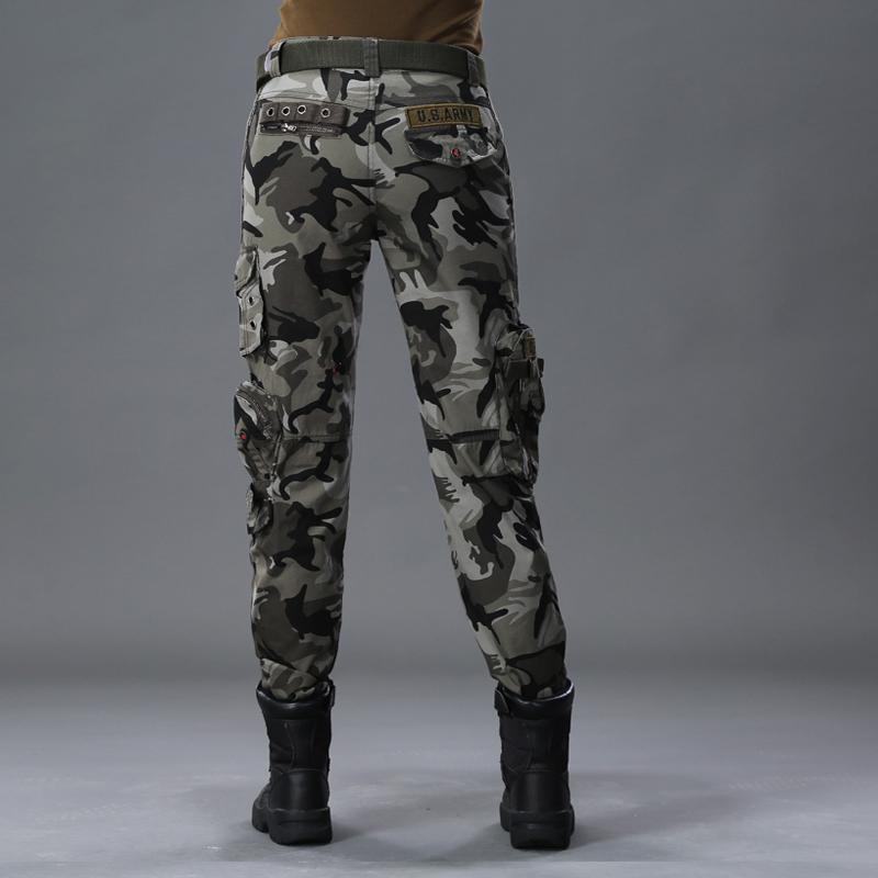 户外迷彩裤女多口袋工装裤宽松直筒军迷特种兵男登山战术军装裤子