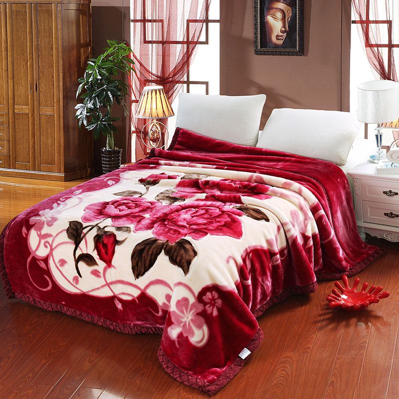 冬被子 2m 時尚斑馬豹紋拉舍爾保暖毛毯加厚床單雙層珊瑚絨婚慶蓋毯