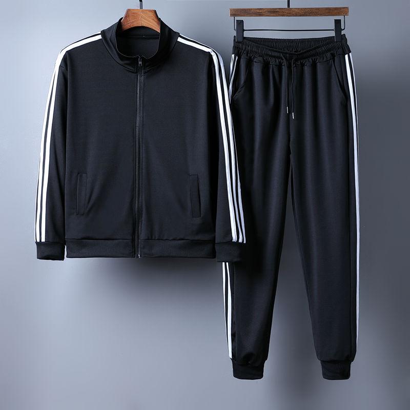 男士休闲套装2020新款春秋季青少年韩版帅气潮流运动服搭配一套