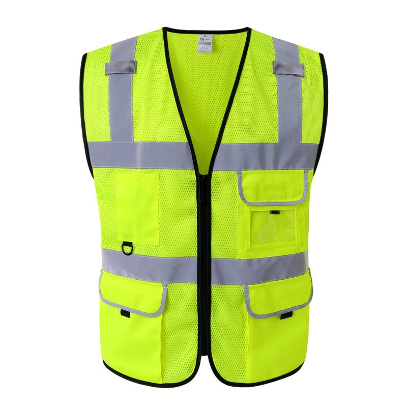 cnss网布反光背心夏季透气工地交通骑行安全衣施工美团马甲驾驶员