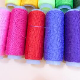 涤纶线缝纫线402小线卷缝衣线绣花线手工缝线DIY手工辅料家用细线