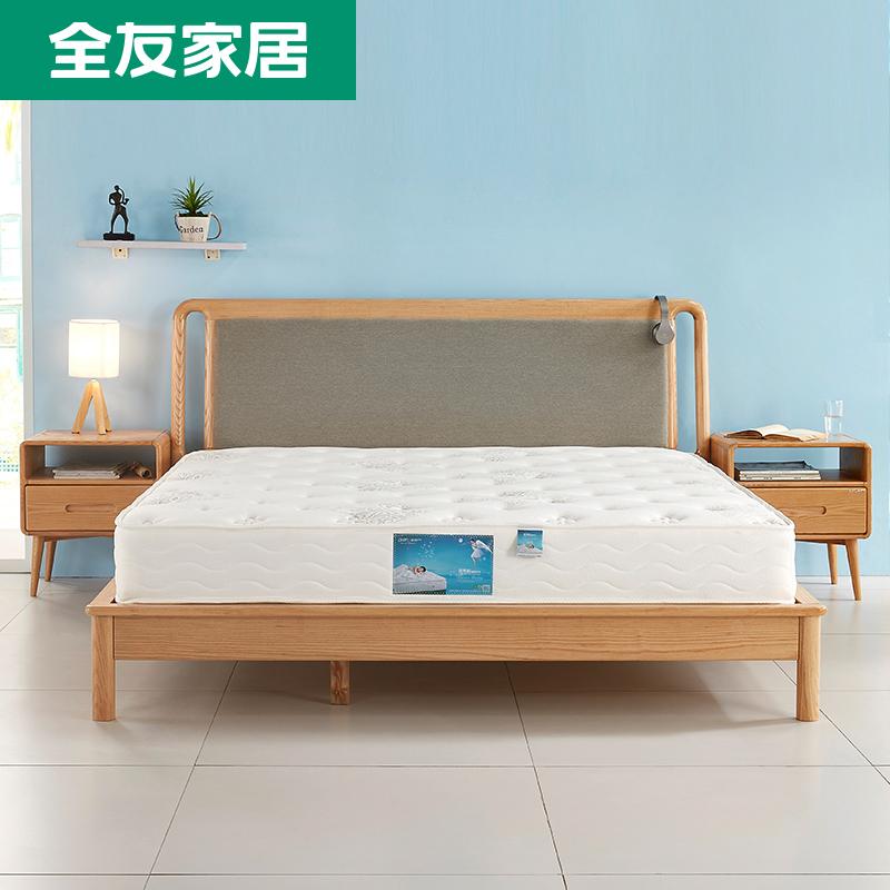 全友家居獨立彈簧健康床墊 靜音防蟎床墊 軟硬適中105057