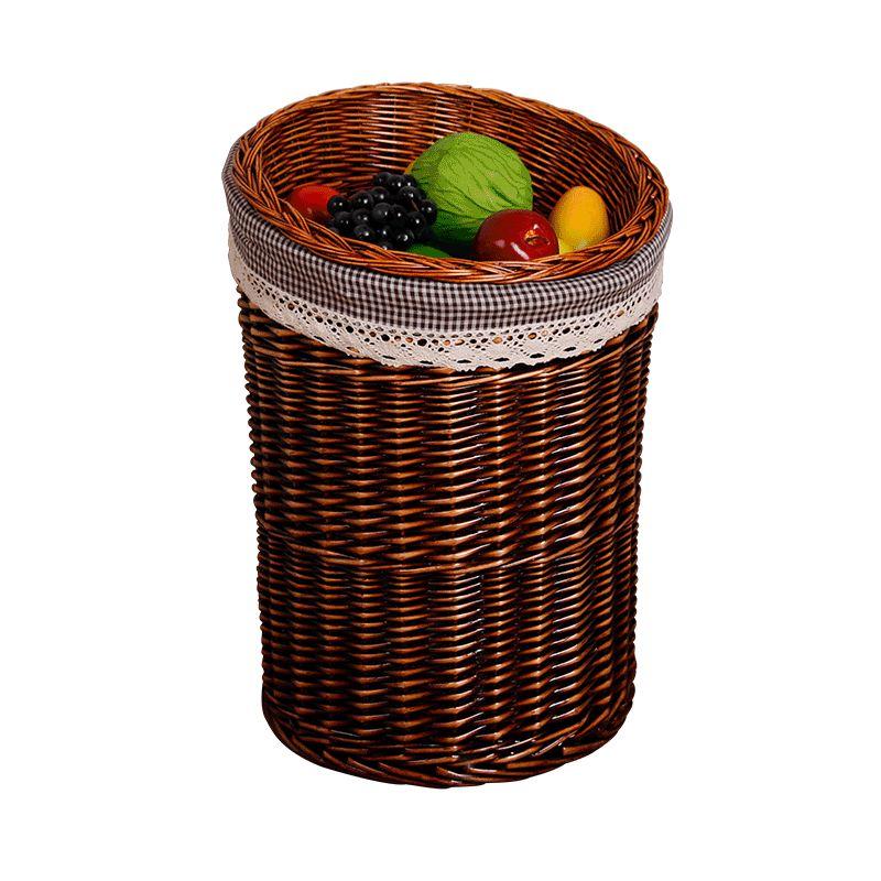 水果架 堆头篮 柳编藤编草编水果筐货架展柜展示蓝展示筐收纳桶篮