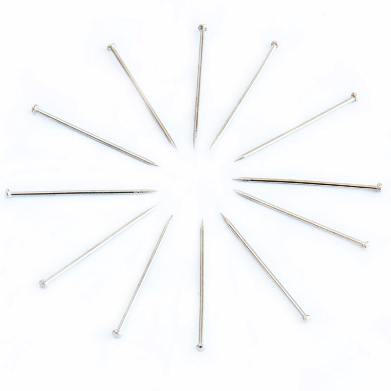 得力0016大头针24mm大头针盒装 镀镍大头针立裁针大头钉固大头钉直别金属服装固定针珍珠针大号定型针工具