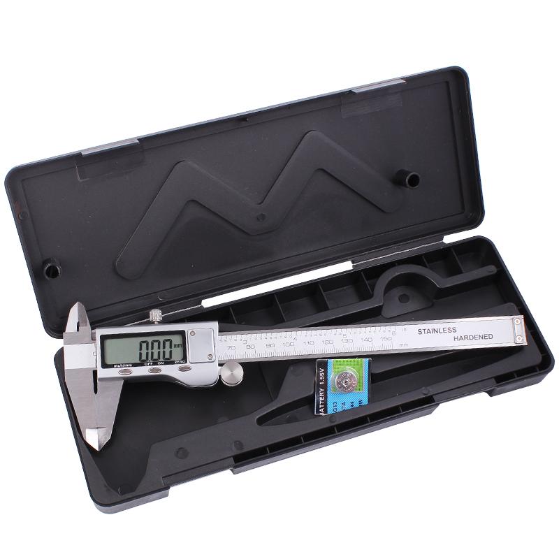 高精度数显卡尺 不锈钢游标卡尺电子数字防水防油卡尺0-150 0-200