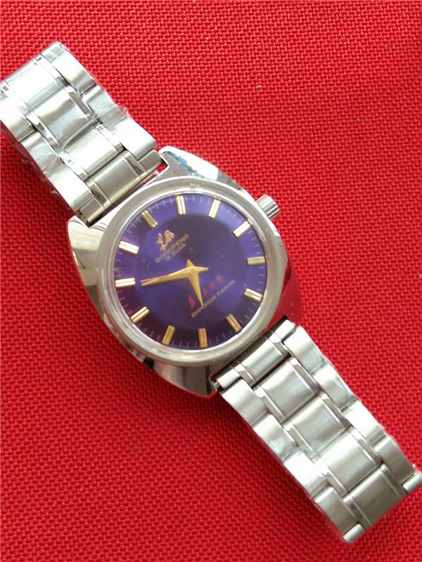 国产腕表全新库存彩盘东风紫盘绿盘鲍鱼款男款手动机械手表