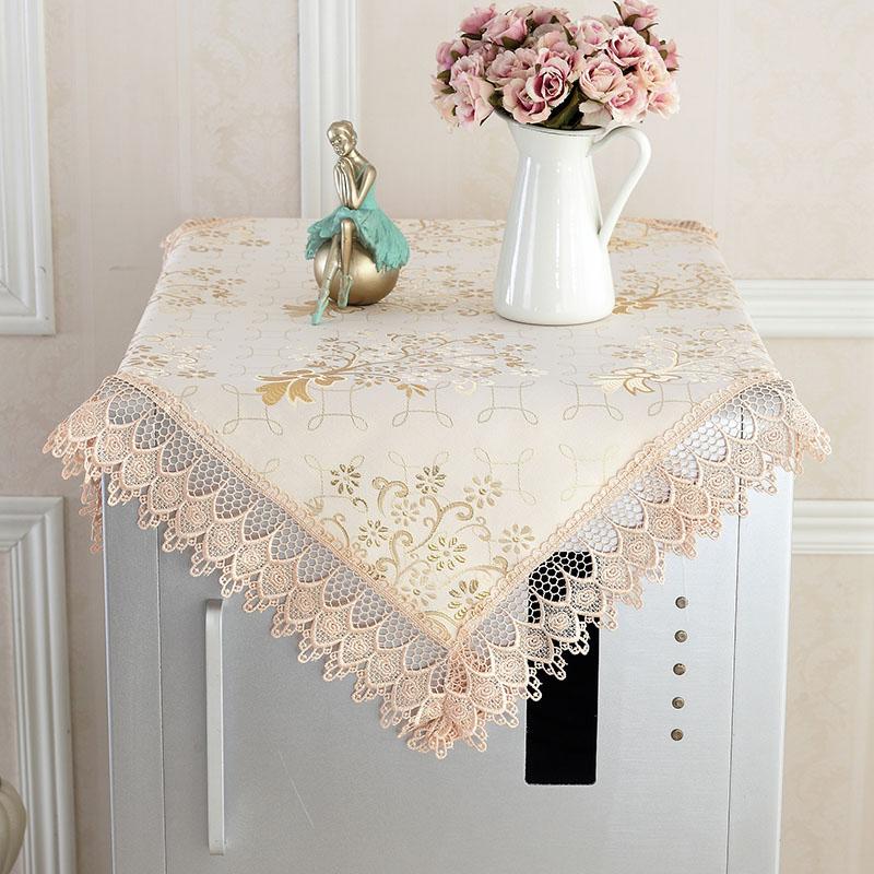 超值万能盖巾桌布 微波炉罩冰箱床头柜罩电视盖布 蕾丝布艺多用巾