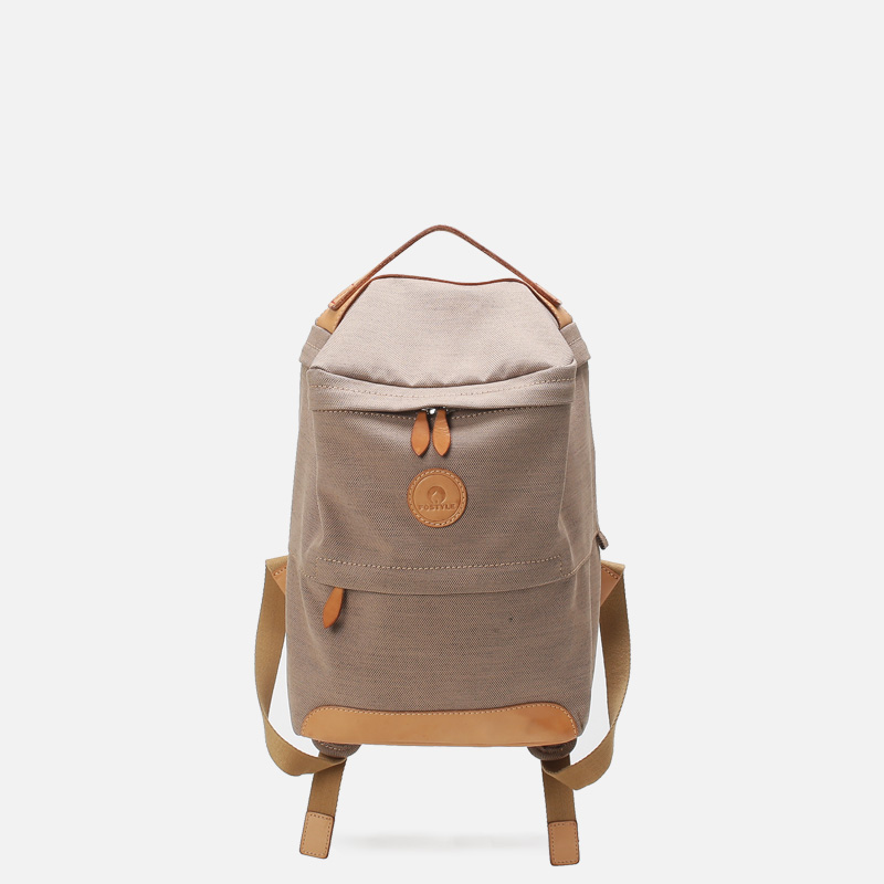 菩提說FOSTYLE美國全棉防潑水小眾設計個性獨特中性方盒雙肩包