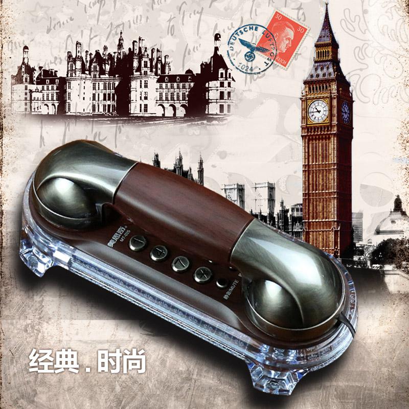 正品包郵歐式創意仿古電話機壁掛迷你小分機來電彩燈經典復古座機