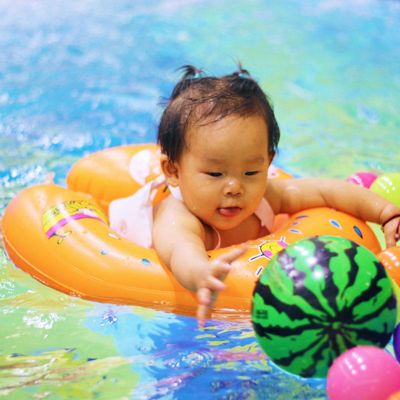 爱贝思腋下圈婴儿游泳圈宝宝趴圈背带浮圈送气筒球胶水耳塞