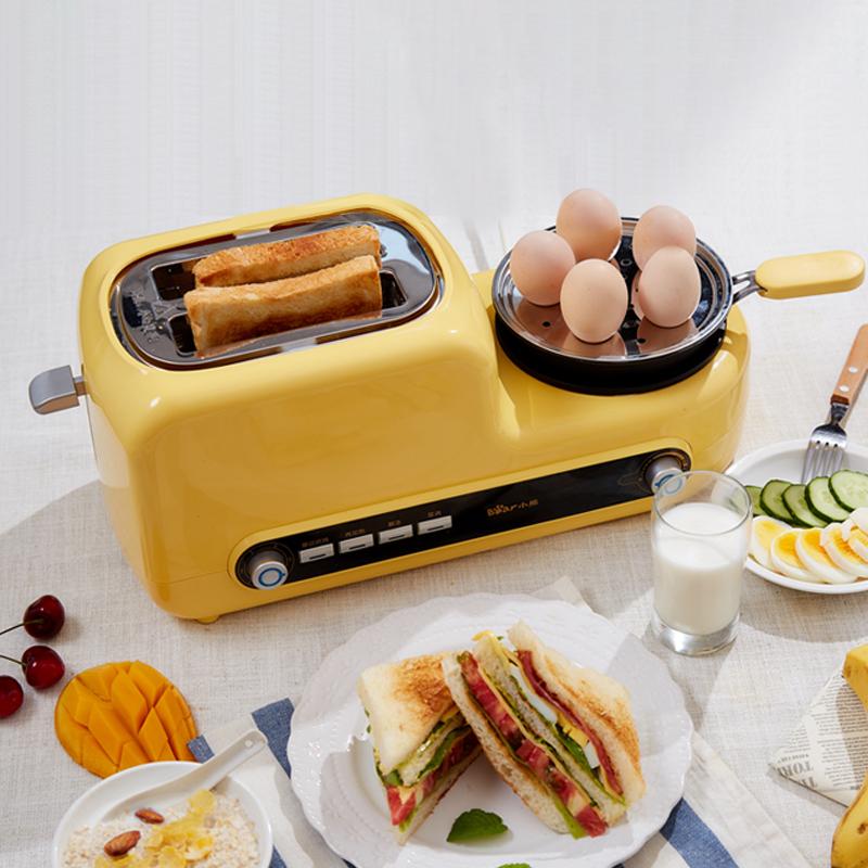 小熊三明治早餐机烤面包片家用多功能小型四合一体多士炉土吐司机主图