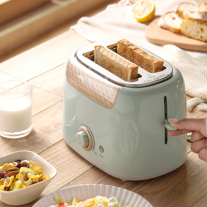 小熊烤面包机家用片多功能早餐机小型多士炉压加热全自动土吐司机