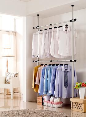 简易衣柜钢架出租房用收纳布艺简约现代挂衣柜顶天立地加厚挂衣杆