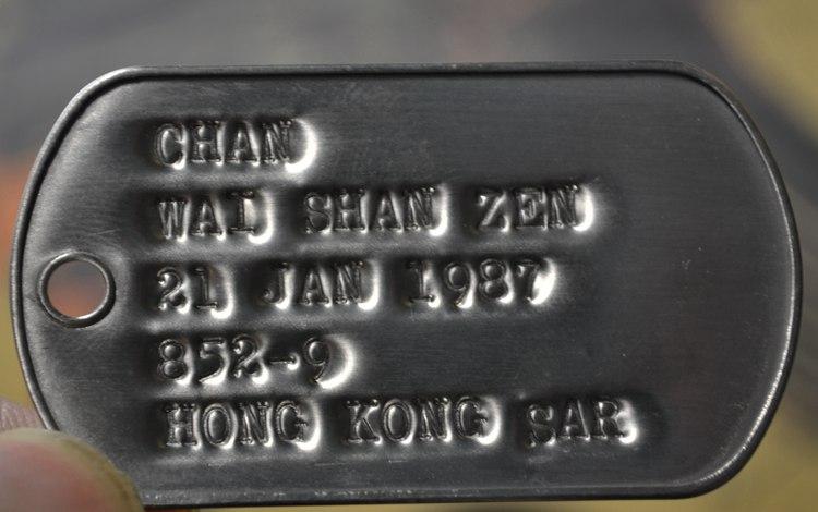 美国进口原产 美军不锈钢身份牌狗牌士兵牌二战凹版dogtag