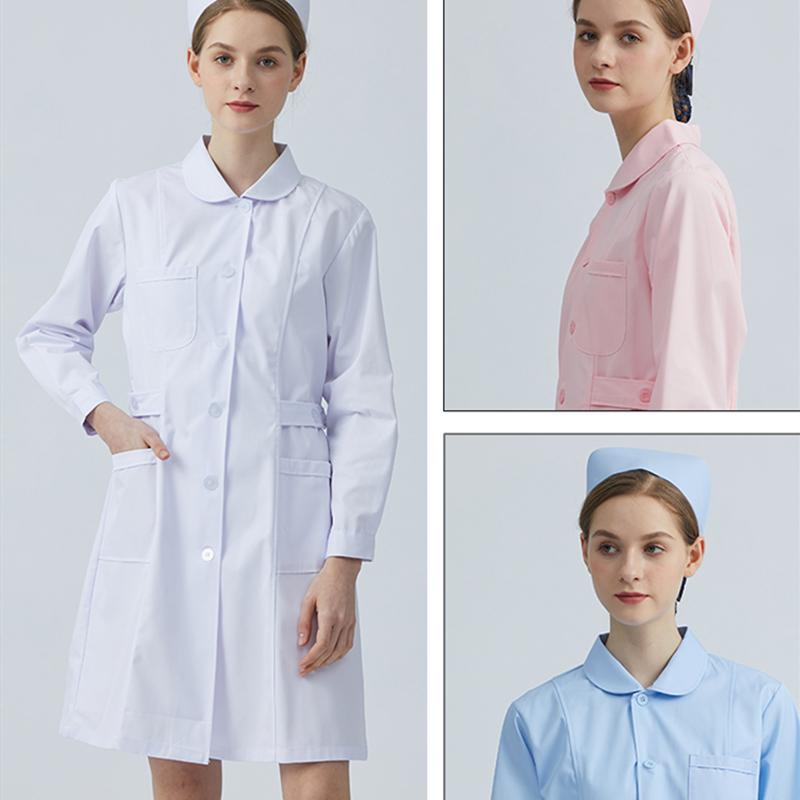 南丁格尔护士服长袖女冬装白大褂厚套装医院卫校实习生工作服热销
