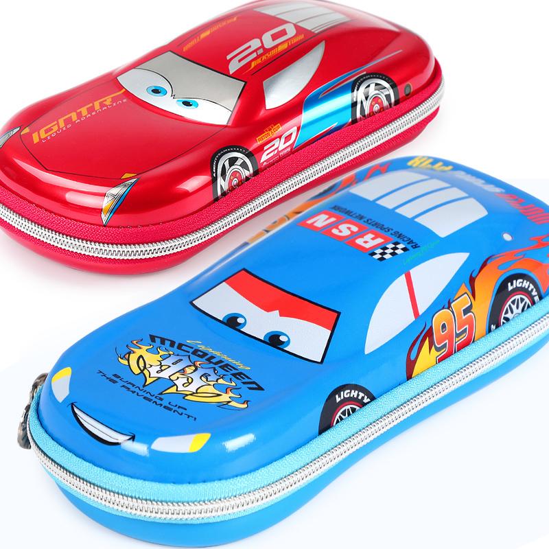 迪士尼儿童笔袋文具盒男小学生男孩笔盒文具袋汽车铅笔盒文具用品