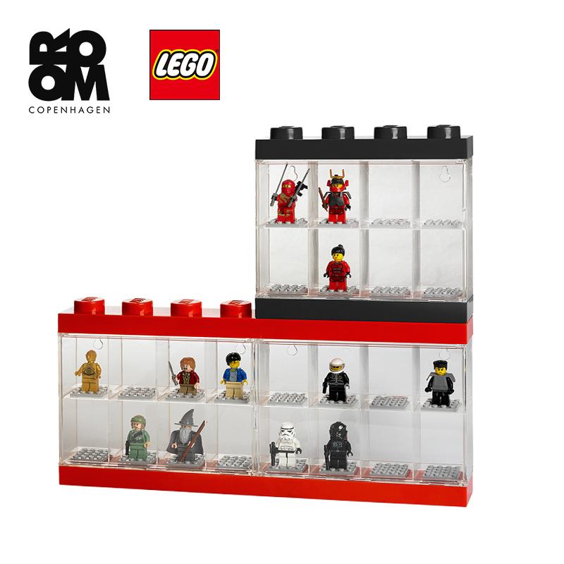 正版乐高LEGO人仔收纳透明展示盒迷你收纳盒儿童拼搭积木箱展示盒