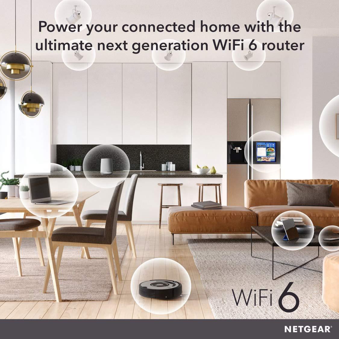 wifi 千兆无线家用路由器穿墙高速 5g 双频路由器光纤 WiFi6 AX6000M Stream 8 RAX80 NETGEAR