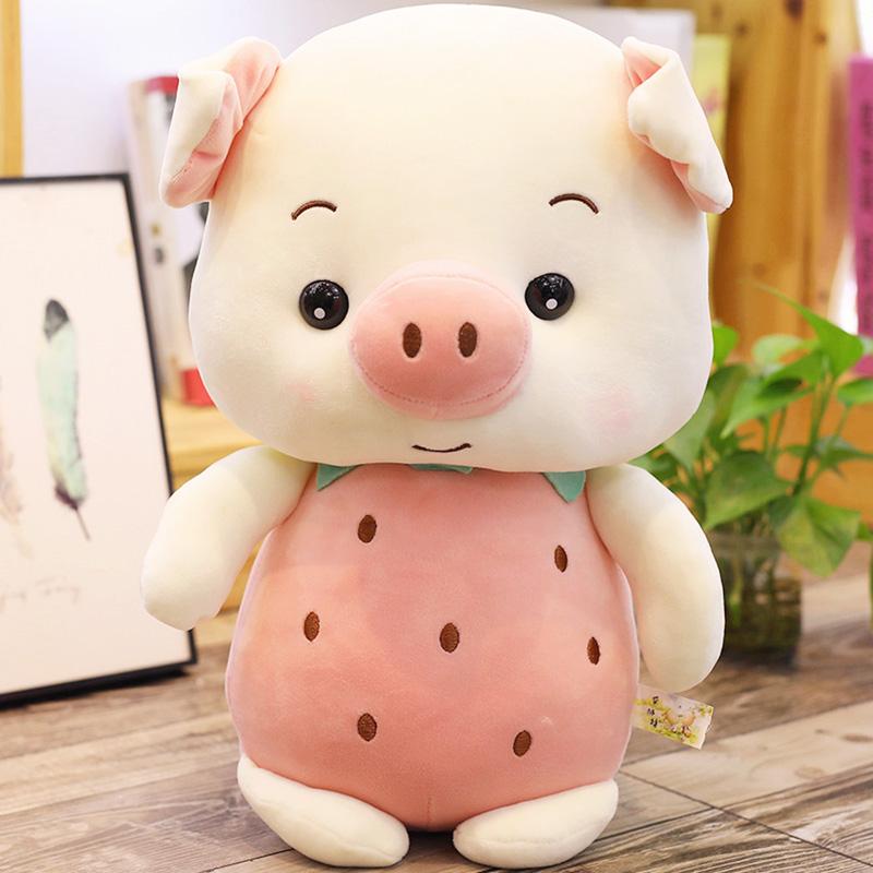 猪猪公仔玩偶毛绒玩具儿童抱枕布娃娃超萌可爱安抚女孩礼物布偶