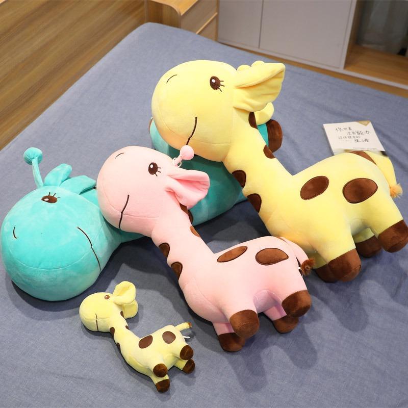 可爱长颈鹿毛绒玩具公仔玩偶抱枕陪睡儿童布娃娃公仔抱枕布偶女生