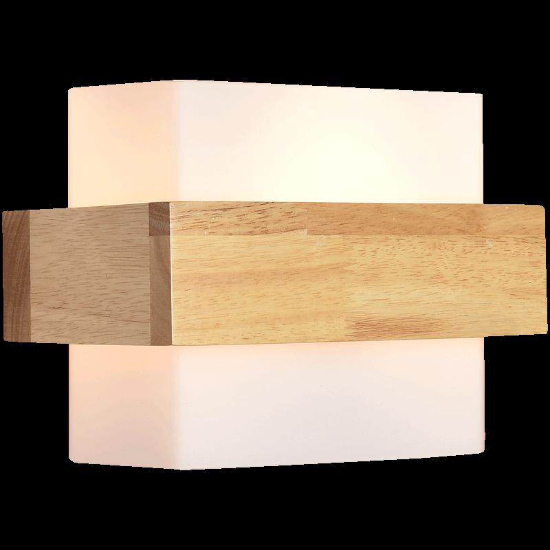 北欧现代简约led实木墙壁灯卧室床头灯具日式创意客厅过道楼梯灯