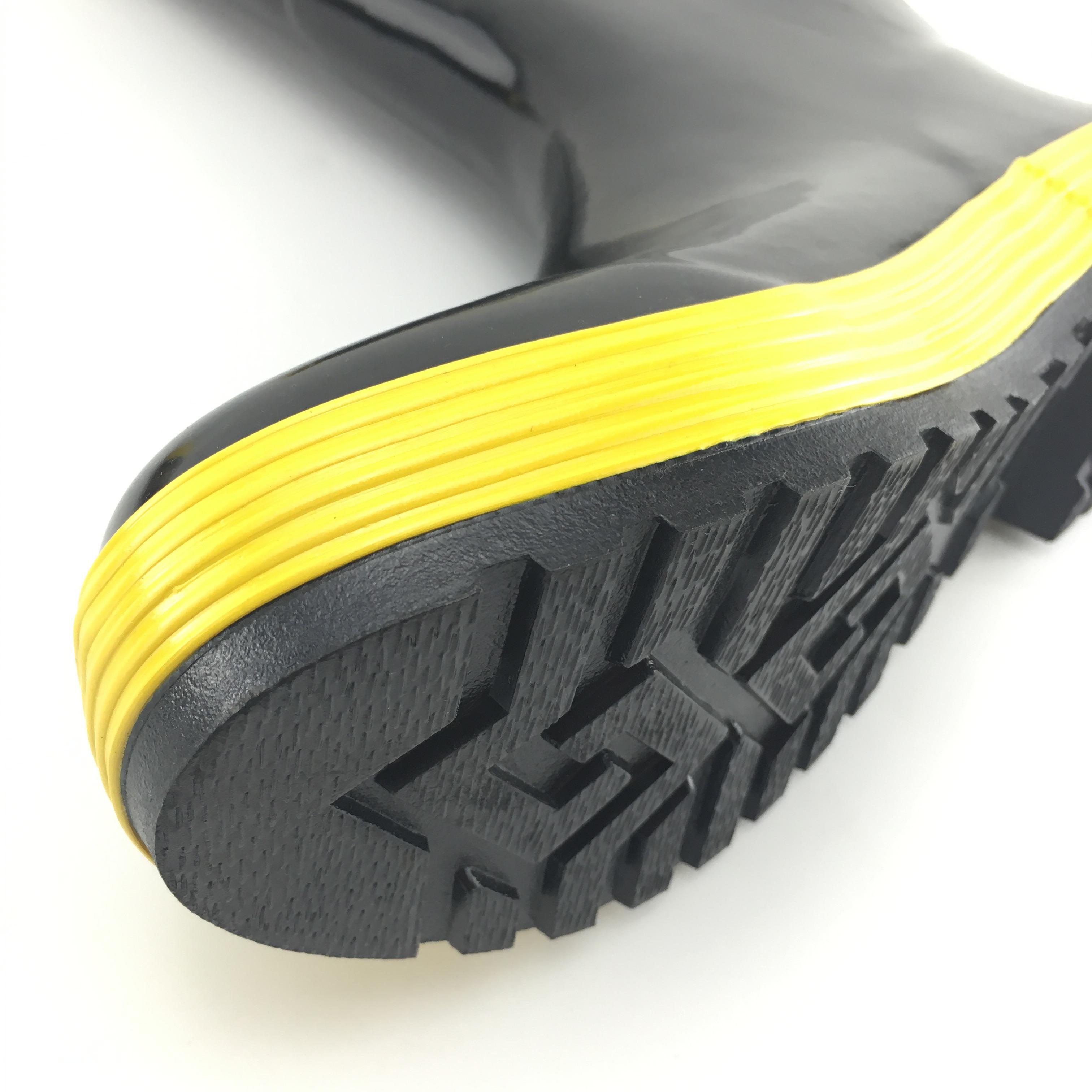 消防鞋97款消防战斗鞋水靴消防训练胶靴消防钢板鞋底防刺穿防护靴