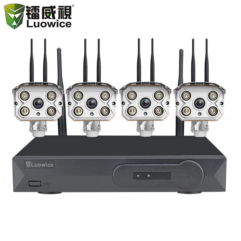 1080p无线监控设备套装监控器wifi高清家用网络摄像头室外