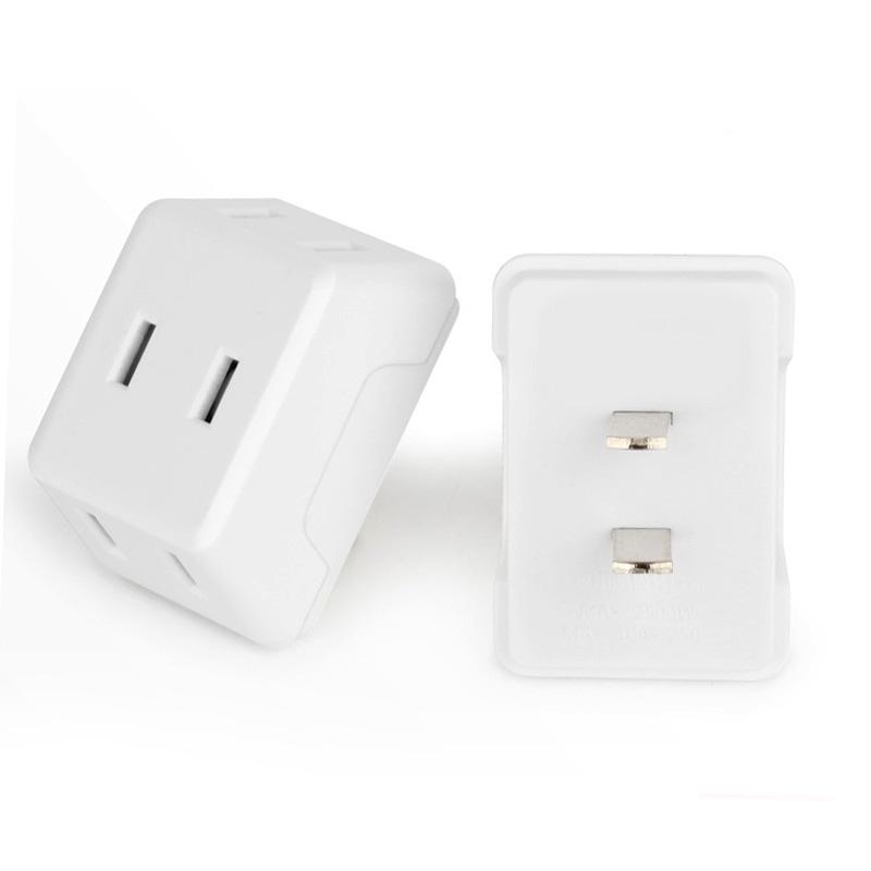 家用迷你插头转换器一转多三电源转换插头旅游无线扩展二极插座