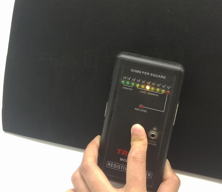 防静电EVA泡棉抗静电海绵防损泡棉垫黑色防静电高硬度海绵 1M*1M