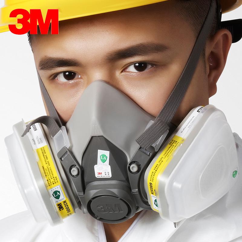 正品3M 6200+6002 7件套 防毒面具 防酸性氣體 防毒面罩 實驗