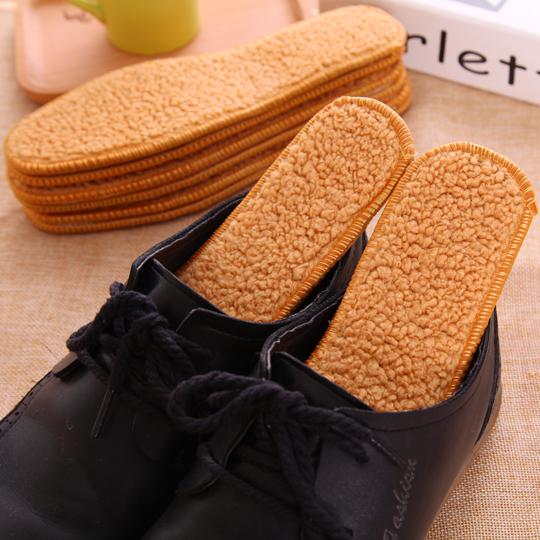 羊驼绒鞋垫秋冬季保暖棉绒皮毛一体羊毛加厚男女鞋垫吸汗透气防臭