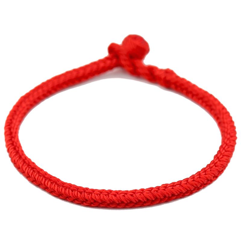 手工编织手绳本命年小红绳手链女男情侣婴儿宝宝猪年转运辟邪简约