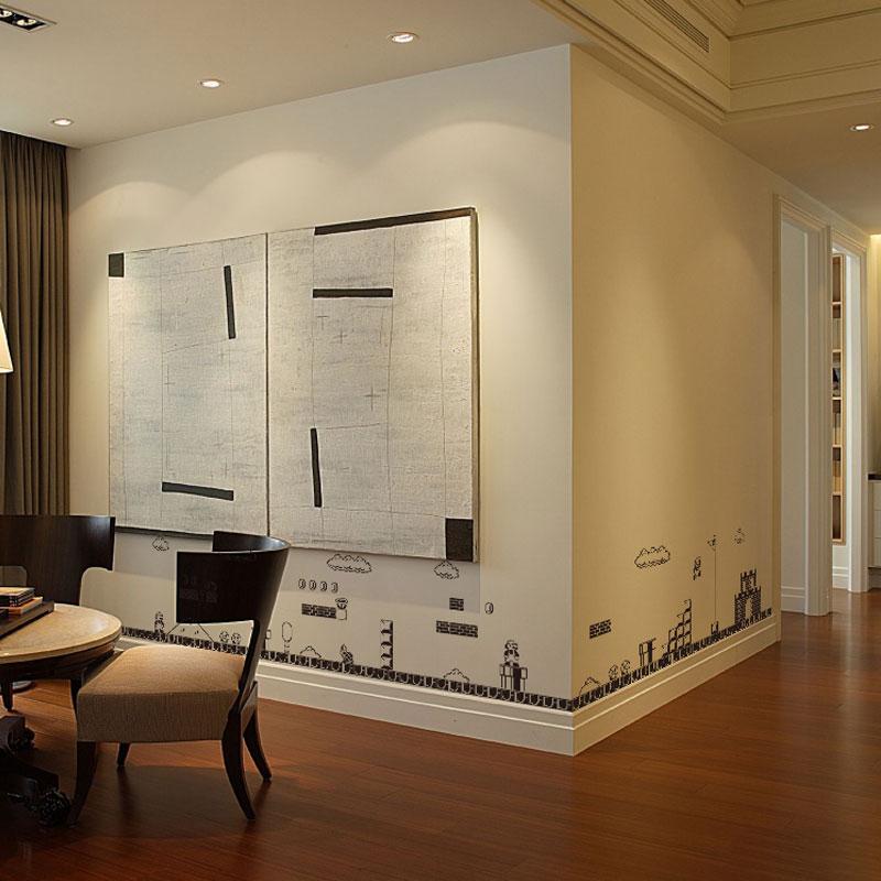 超级马里奥玛丽创意个姓墙贴卧室沙发墙客厅贴纸幼儿园卡通墙纸