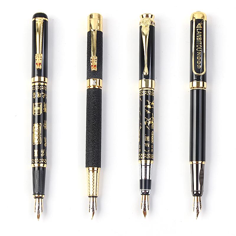 包邮烂笔头钢笔定制雕刻书法学生用钢笔墨囊美工弯头硬笔练字批发