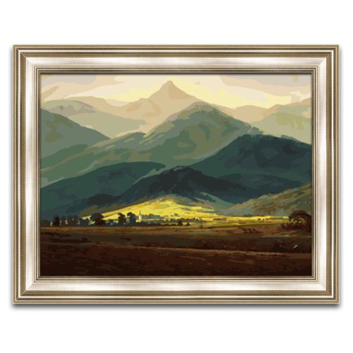 非之語 diy數字油畫 客廳風景大幅手繪油彩畫 大衛-巨人山