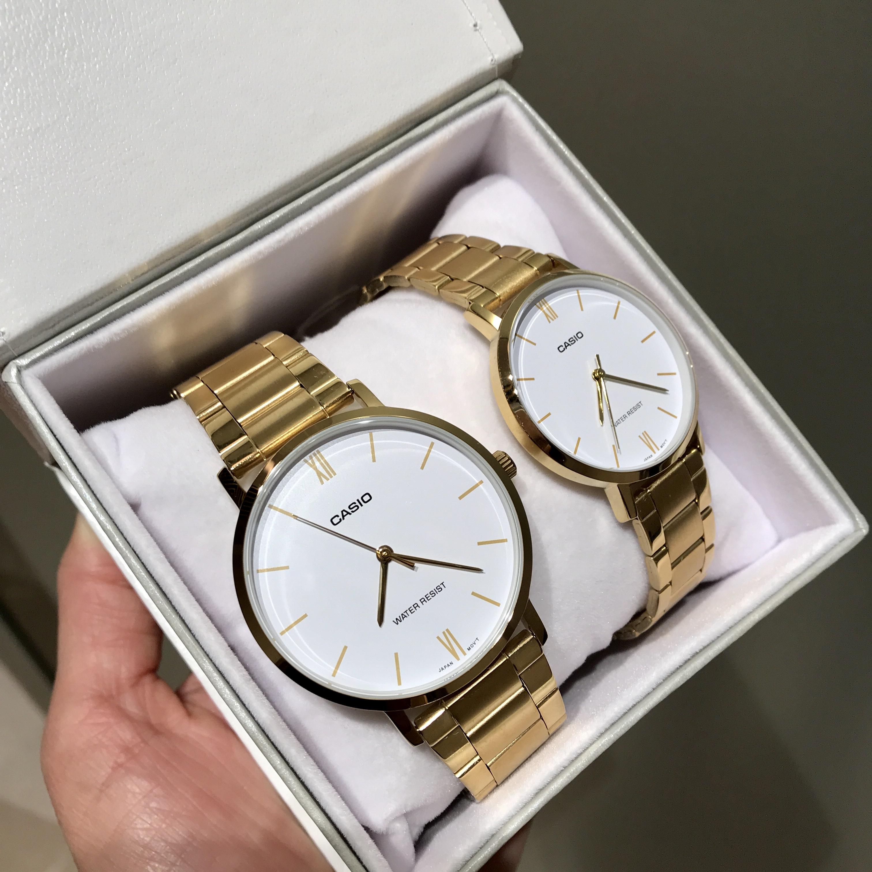 casio 小金表正品石英电子手表机械情侣手表一对 卡西欧手表男黑金