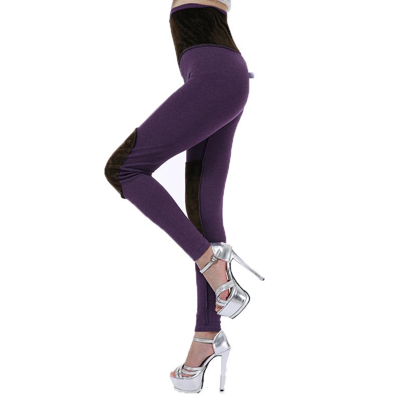 精品高腰紧身护膝女秋裤单件莱卡纯棉发热纤维大码棉毛裤保暖线裤