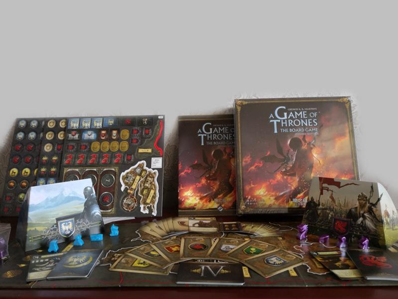 正版权力的游戏中文版图第二版龙之母扩展冰与火之歌桌游桌面卡牌