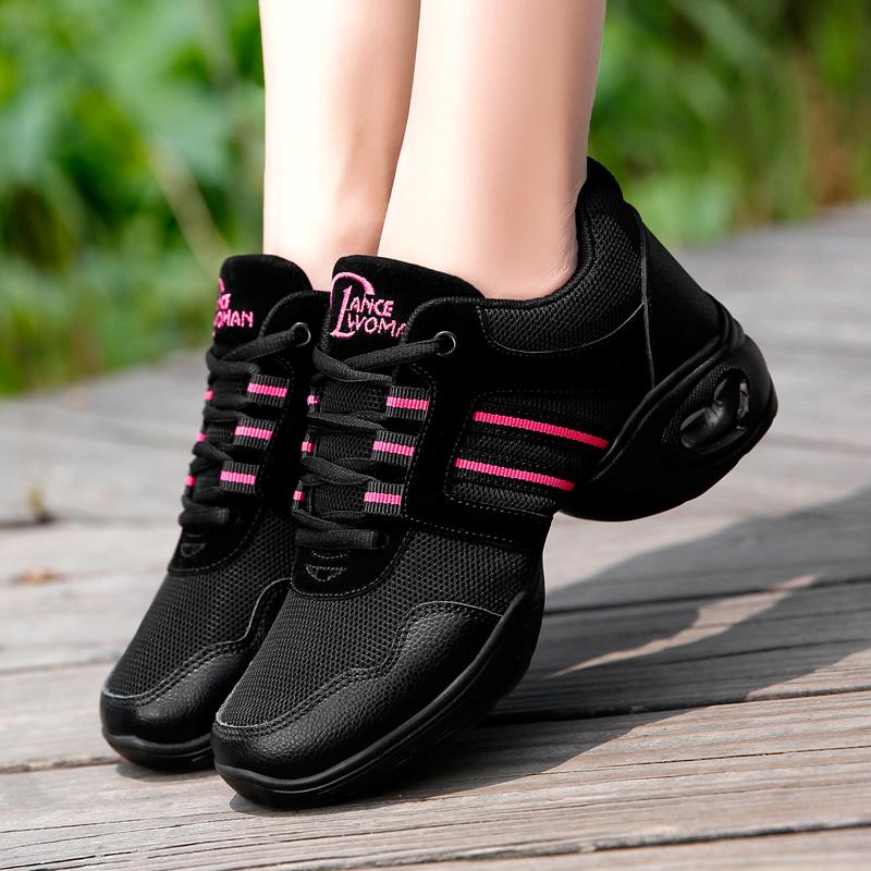 牛霸道广场舞蹈鞋女成人跳舞女鞋网面爵士软底夏季跳舞鞋女999