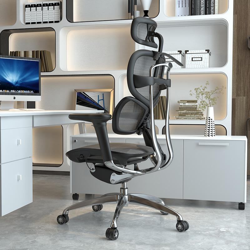 西昊人体工学电脑椅家用老板座椅电竞游戏转椅舒适护腰办公椅子