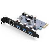 Lulian pcie Gigabit network card Type-C3.1 / gen2 dual-interface desktop computer mainframe built-in wired usb3.0 high-speed game expansion card 1000M expansion transfer panel