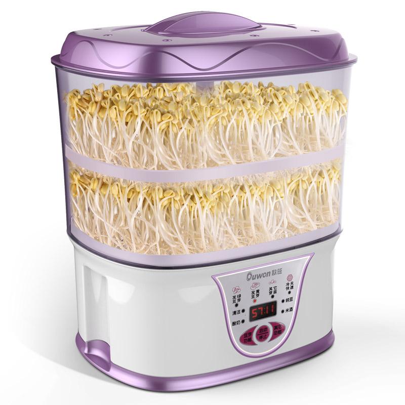欧旺豆芽机家用全自动特价清仓正品大容量生豆芽机发豆芽机豆牙机