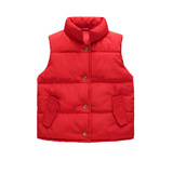 Anti-season children's down cotton vest boys and girls baby thick vests in winter children's outer wear collar children's wear