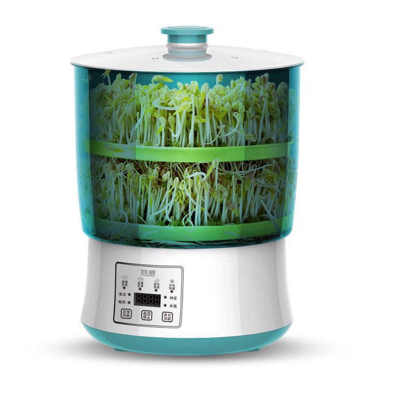 豆芽机家用全自动多功能豆芽菜大容量小型生绿豆芽罐盆发黄豆芽