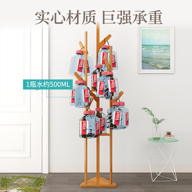 索乐衣帽架落地式卧室挂衣架简约现代实木家用衣服架子简易置物架
